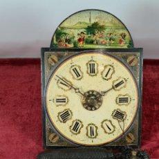 Relojes de pared: RELOJ DE PARED. RATERA. FRONTAL DE MADERA POLICROMADA. MAGIN ROLAND. SIGLO XIX-XX.. Lote 274529903