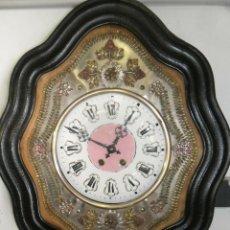 Relojes de pared: ¡¡GRAN OFERTA!! ANTIGUO RELOJ OJO DE BUEY-AÑO 1890-FRONTAL EN LATON REPUJADO-. Lote 275112033