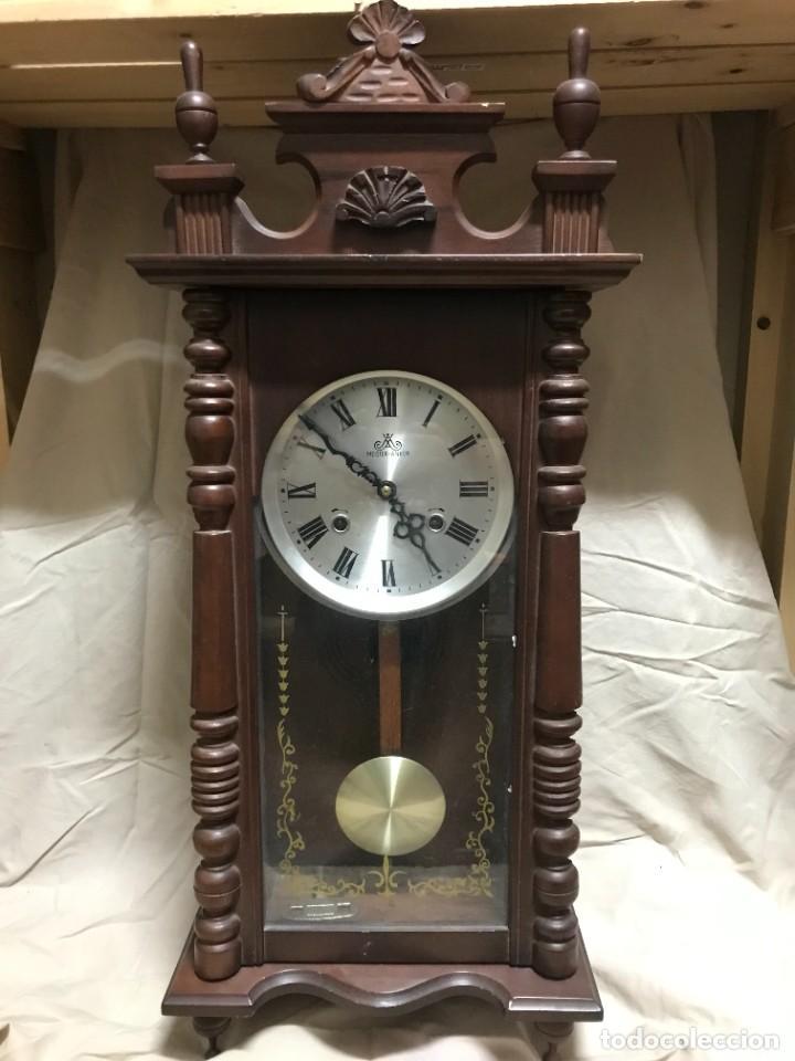 RELOJ DE PARED A CUERDA MARCA MEISTER ANKER - FUNCIONANDO (Relojes - Pared Carga Manual)