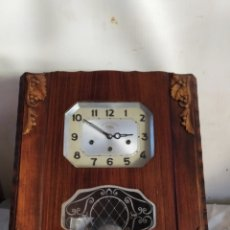 Relojes de pared: IMPRESIONANTE RELOJ ANTIGUO DE PARED CON SONERIA A CUARTOS. Lote 276151968