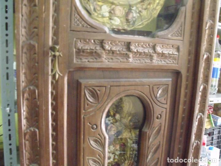 Relojes de pared: MAGNIFICO Y SEÑORIAL-RELOJ MOREZ PESAS-MUEBLE BRETON CON TALLAS-AÑO 1890-LOTE 313-FUNCIONA BIEN - Foto 7 - 276354833