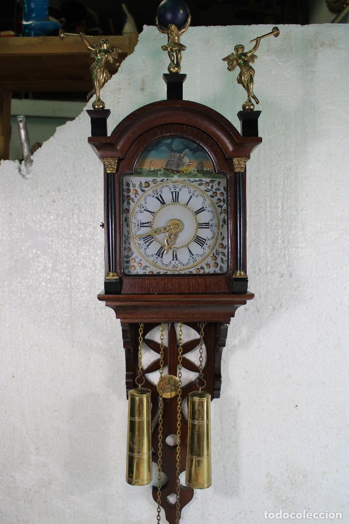 ANTIGUO RELOJ HOLANDES DE PARED (Relojes - Pared Carga Manual)