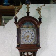 Relojes de pared: ANTIGUO RELOJ HOLANDES DE PARED. Lote 276609083