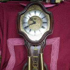 Relojes de pared: PRECIOSO RELOJ DE PARED MARCA PONTINA.. Lote 276756948