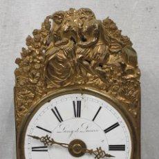 Relojes de pared: RELOJ PARED MOREZ DE CUATRO CAMPANAS EN LATÓN REPUJADO,SEGUNDA MITAD SIGLOXIX LAMY & LACROIX. MOREZ.. Lote 278805073