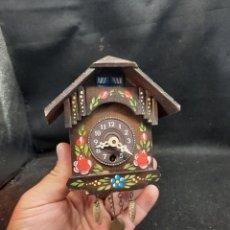 Orologi da parete: RELOJ DE MADERA CUCO EN MINIATURA. Lote 280654023