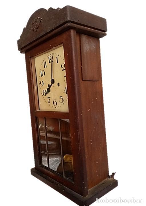 Relojes de pared: RELOJ JUNGHANS MAQUINARIA ORIGINAL F.S.XIX - Foto 2 - 284567823