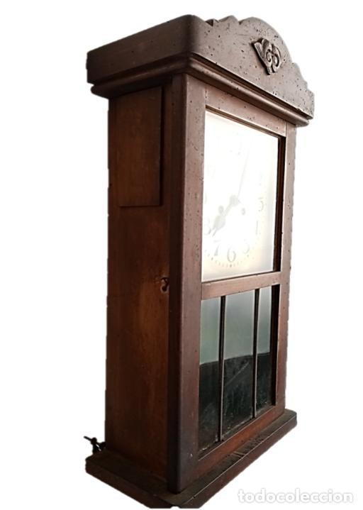 Relojes de pared: RELOJ JUNGHANS MAQUINARIA ORIGINAL F.S.XIX - Foto 3 - 284567823