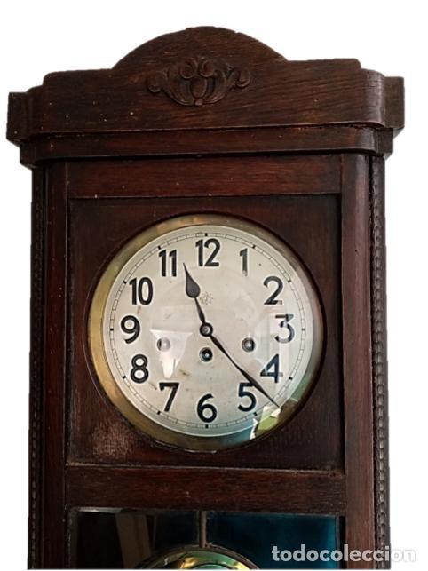 Relojes de pared: RELOJ JUNGHANS MAQUINARIA ORIGINAL F.S.XIX - Foto 5 - 284567823