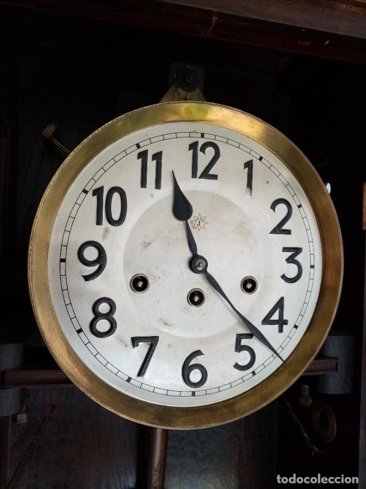 Relojes de pared: RELOJ JUNGHANS MAQUINARIA ORIGINAL F.S.XIX - Foto 12 - 284567823