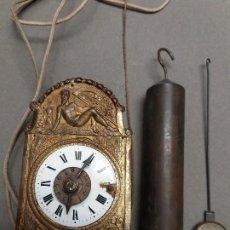 Orologi da parete: RELOJ MINI MOREZ DE PARED FINALES DEL SIGLO XIX. Lote 284594803