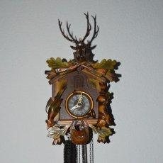 Relojes de pared: VINTAGE RELOJ CUCO - RELOJ DE PARED - MADE IN GERMANY - COMPLETO, BUEN ESTADO FÍSICO - ¡MIRA FOTOS!. Lote 285600898