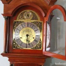Relojes de pared: RELOJ PARED SIMPSON ERIKER, STRIKE SILENT, MADERA CEREZO, BRONCE Y LATÓN. Lote 286488928