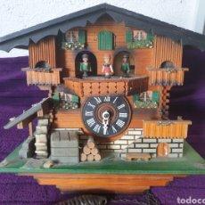 Orologi da parete: ANTIGUO RELOJ PARED MADERA DE CUCO Y CARILLON CARGA MANUAL. Lote 286999858