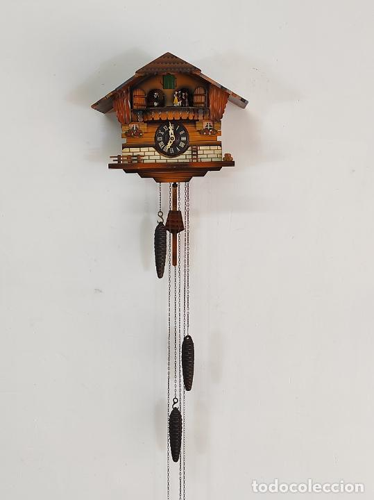 RELOJ DE PARED, CUCO - SELVA NEGRA, ALEMANIA - MARCA JEC, SCHWEIZERKLÄNGE (Relojes - Pared Carga Manual)