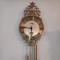 Relógios de parede: ANTIGUO RELOJ DE PARED SCHMECKENBECHER, FABRICADO EN ALEMANIA AÑO 1976, FUNCIONANDO,CON SONERIA.. Lote 287492358