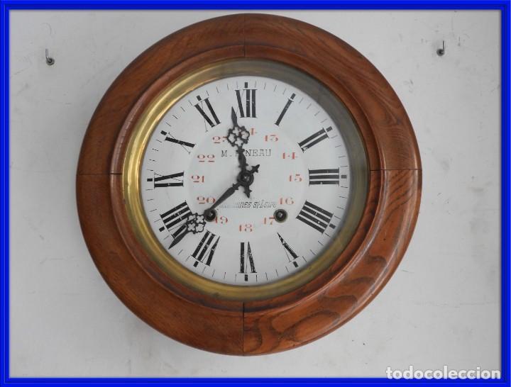 RELOJ DE PARED DE MADERA DE ROBLE RELOJERO M PINEAU (Relojes - Pared Carga Manual)