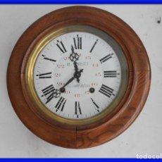 Relojes de pared: RELOJ DE PARED DE MADERA DE ROBLE RELOJERO M PINEAU. Lote 287560913