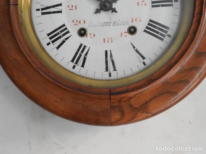 Relojes de pared: RELOJ DE PARED DE MADERA DE ROBLE RELOJERO M PINEAU - Foto 3 - 287560913