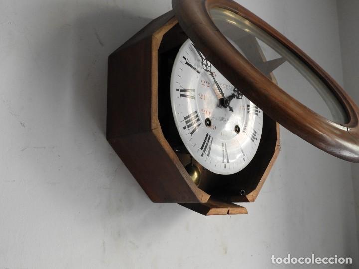 Relojes de pared: RELOJ DE PARED DE MADERA DE ROBLE RELOJERO M PINEAU - Foto 6 - 287560913