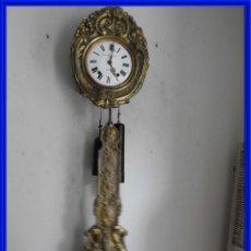 Relojes de pared: RELOJ DE PARED CON PENDOLA REAL DE MOVIMIENTO CON BALANCIN. Lote 287561283