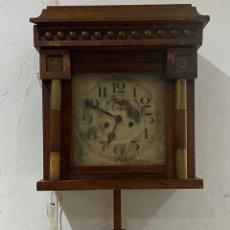 Relojes de pared: ANTIGUO RELOJ LA PARED CARLOS COPPEL SIGLO XVIII. FUNCIONA PERFECTAMENTE. Lote 294561608