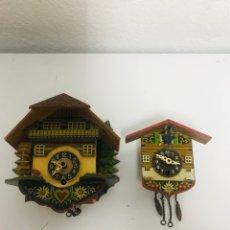 Relojes de pared: RELOJES DE CUCO SUIZOS, MUY BONITOS!. Lote 295649178