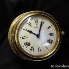Relojes de pared: ANTIGUO RELOJ DE BARCO WEMPE CUERDA Y SONERIA. ALEMÁN.FUNCIONA. Lote 295638118