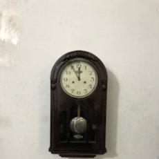 Relojes de pared: ANTIGUO RELOJ DE PARED ROMAN MECÁNICO FUNCIONA BIEN. Lote 296068988