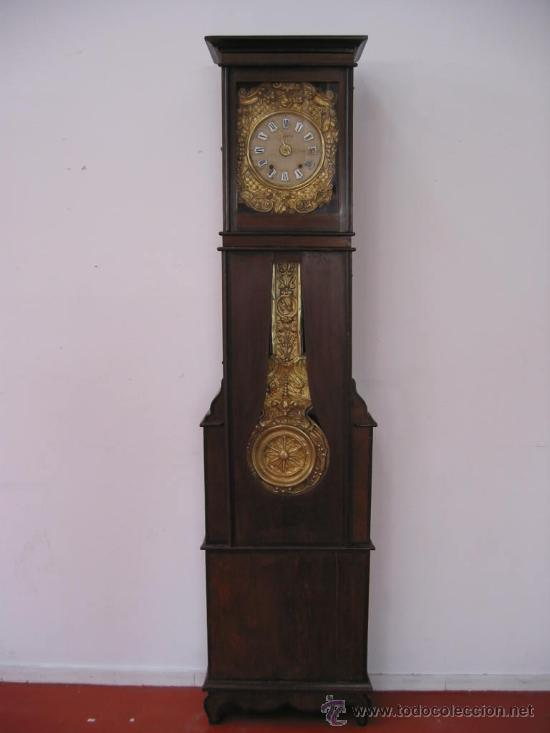 RELOJ ANTIGUO DE PIE MOREZ (SIGLO XIX) (Relojes - Pie Carga Manual)