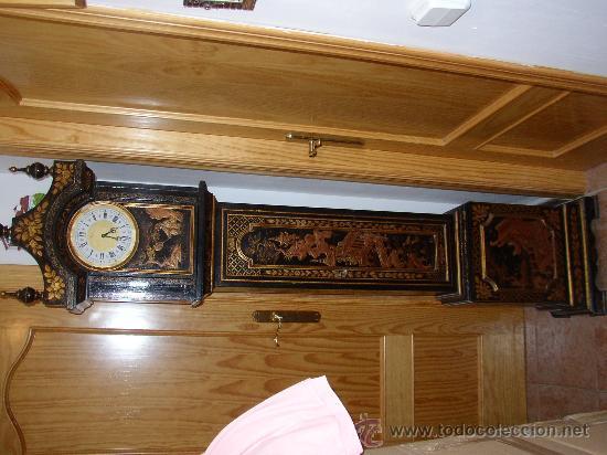 Relojes de pie: RELOJ DE PIE ESTILO INGLÉS CON DECORACIONES ORIENTALES EN RELIEVE. (VER FOTOS) - Foto 3 - 19051356