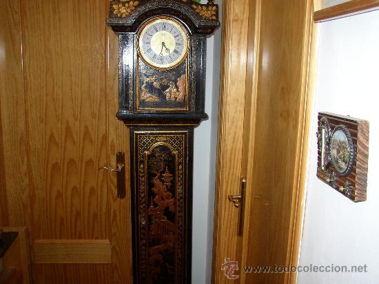 Relojes de pie: RELOJ DE PIE ESTILO INGLÉS CON DECORACIONES ORIENTALES EN RELIEVE. (VER FOTOS) - Foto 5 - 19051356