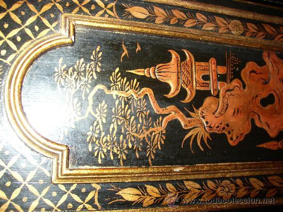 Relojes de pie: RELOJ DE PIE ESTILO INGLÉS CON DECORACIONES ORIENTALES EN RELIEVE. (VER FOTOS) - Foto 7 - 19051356