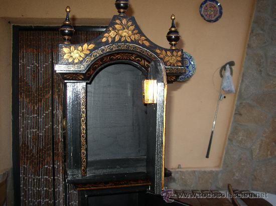 Relojes de pie: RELOJ DE PIE ESTILO INGLÉS CON DECORACIONES ORIENTALES EN RELIEVE. (VER FOTOS) - Foto 9 - 19051356