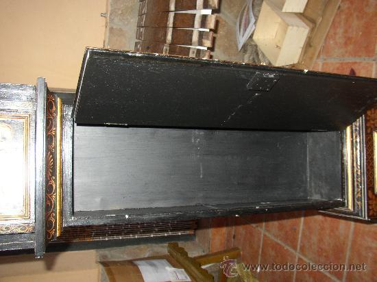 Relojes de pie: RELOJ DE PIE ESTILO INGLÉS CON DECORACIONES ORIENTALES EN RELIEVE. (VER FOTOS) - Foto 10 - 19051356