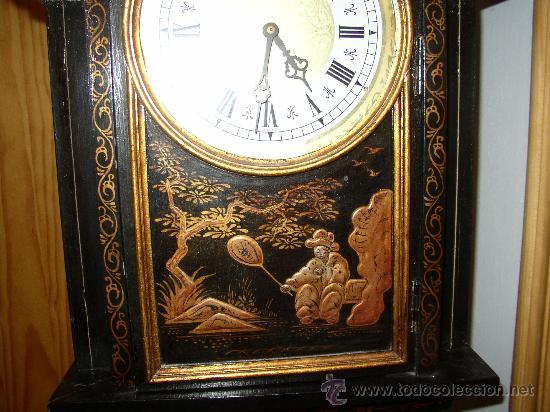 Relojes de pie: RELOJ DE PIE ESTILO INGLÉS CON DECORACIONES ORIENTALES EN RELIEVE. (VER FOTOS) - Foto 11 - 19051356