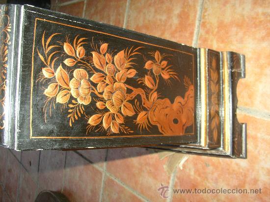 Relojes de pie: RELOJ DE PIE ESTILO INGLÉS CON DECORACIONES ORIENTALES EN RELIEVE. (VER FOTOS) - Foto 12 - 19051356
