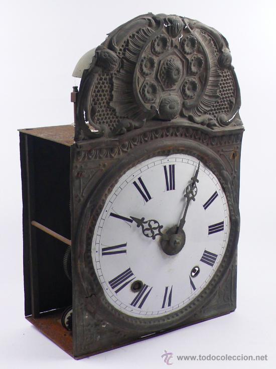 RELOJ MOREZ DE UNA CAMAPANA SIN PESOS NI PÉNDULO, (Relojes - Pie Carga Manual)