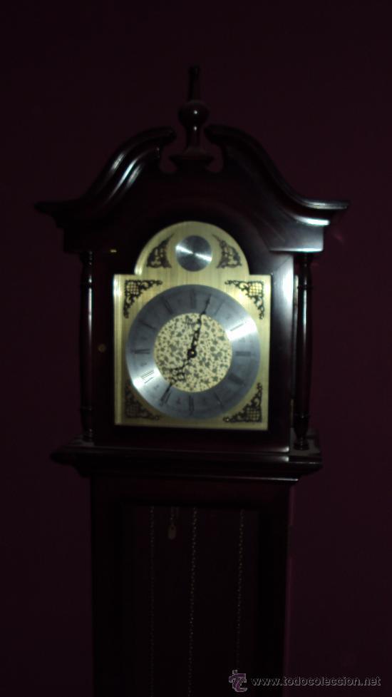 Relojes de pie: Reloj de Antesala de la marca Tempus Fugit en madera de Caoba - Foto 4 - 24519948