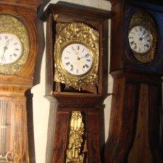 Relojes de pie: RELOJ MOREZ ANTIGUO DE PENDULO REAL EN CAJA ORIGINAL DE MADERA. Lote 27502658