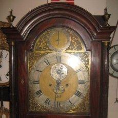 Relojes de pie: UNICO RELOJ CAJA CAOBA THOMAS LOZANO LONDRES S XVIII. Lote 29033750