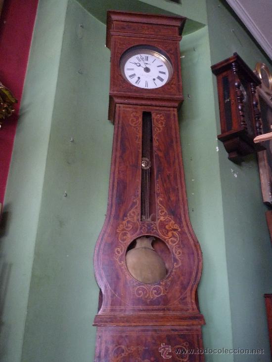 RELOJ MOREZ, CIRCA 1850 CON BONITA CAJA (Relojes - Pie Carga Manual)