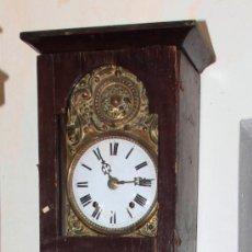Relojes de pie: RELOJ MOREZ DE UNA CAMPANA S.XIX CON CAJA, SIN PESOS , .. Lote 34568065