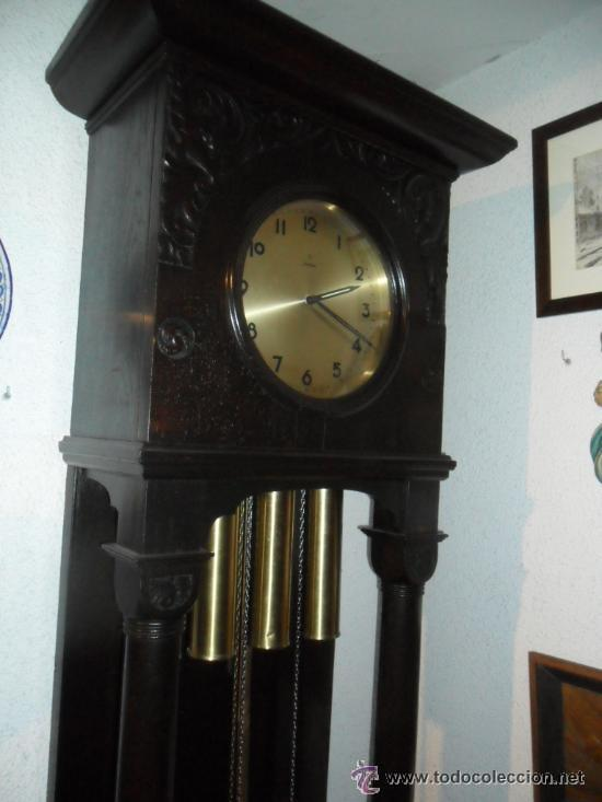 RELOJ DE PIÉ MAQUINARIA JUNGHANS -GERMANY PRINCIPIOS DEL SIGLO XX - FUNCIONANDO (Relojes - Pie Carga Manual)