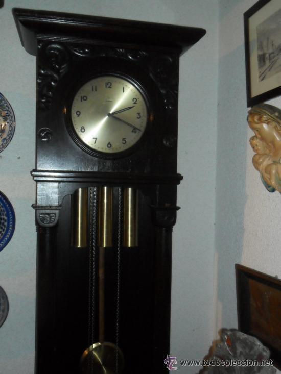 Relojes de pie: RELOJ DE PIÉ MAQUINARIA JUNGHANS -GERMANY PRINCIPIOS DEL SIGLO XX - FUNCIONANDO - Foto 3 - 37633273