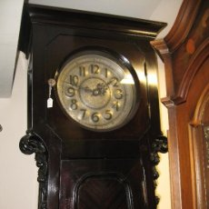 Relojes de pie: RELOJ PALACIEGO MARCA MATTHIAS BAUERLE - CAJA DE CAOBA. Lote 37988109