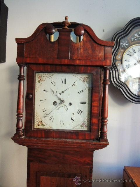 Relojes de pie: PRECIOSO RELOJ INGLES CON SEGUNDERO Y CALENDARIO. FUNCIONA CORRECTAMENTE - Foto 2 - 38450459