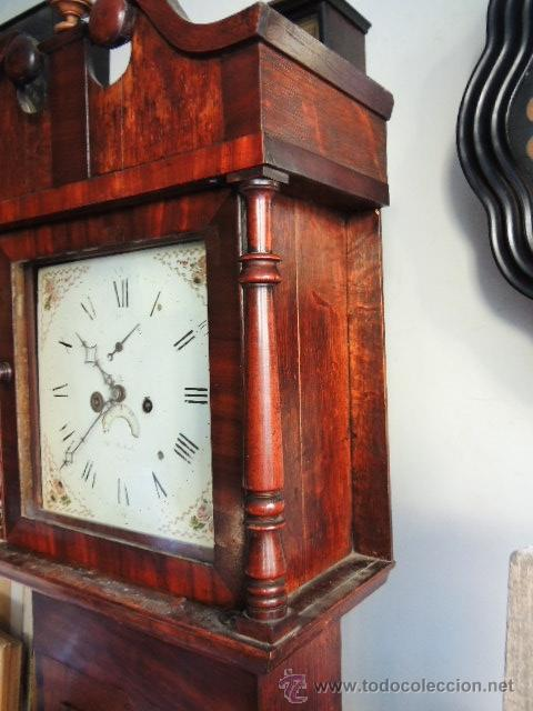 Relojes de pie: PRECIOSO RELOJ INGLES CON SEGUNDERO Y CALENDARIO. FUNCIONA CORRECTAMENTE - Foto 3 - 38450459
