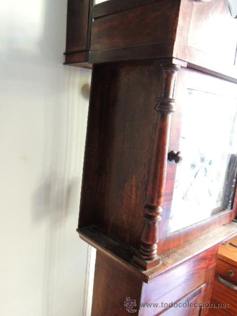 Relojes de pie: PRECIOSO RELOJ INGLES CON SEGUNDERO Y CALENDARIO. FUNCIONA CORRECTAMENTE - Foto 4 - 38450459