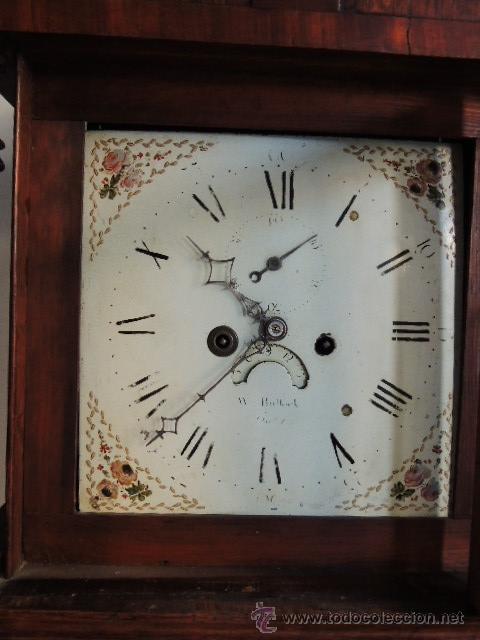 Relojes de pie: PRECIOSO RELOJ INGLES CON SEGUNDERO Y CALENDARIO. FUNCIONA CORRECTAMENTE - Foto 9 - 38450459